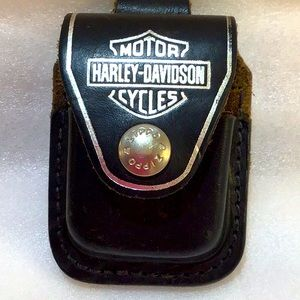 Harley-Davidson Leather Zippo lighter holder
